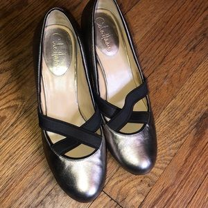 Cole Haan Gold Heels with Nike Air Technology